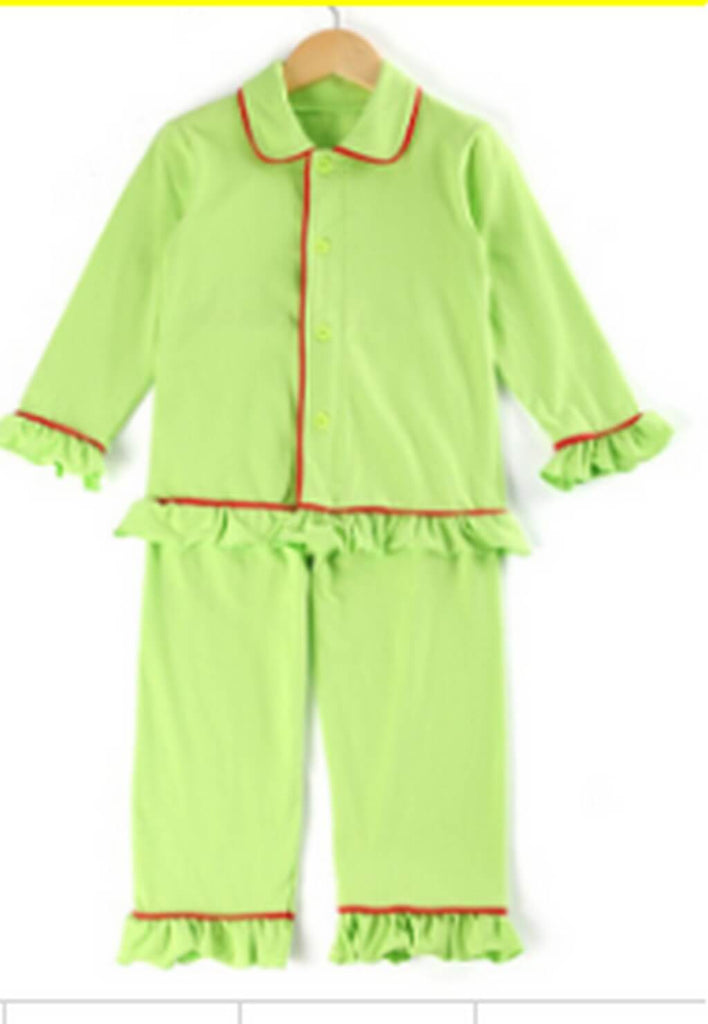 Kids Customized Ruffled Sleeves Pajamas Set - Bridesmaid's World