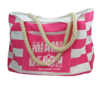 Custom Beach Bag - Bridesmaid's World
