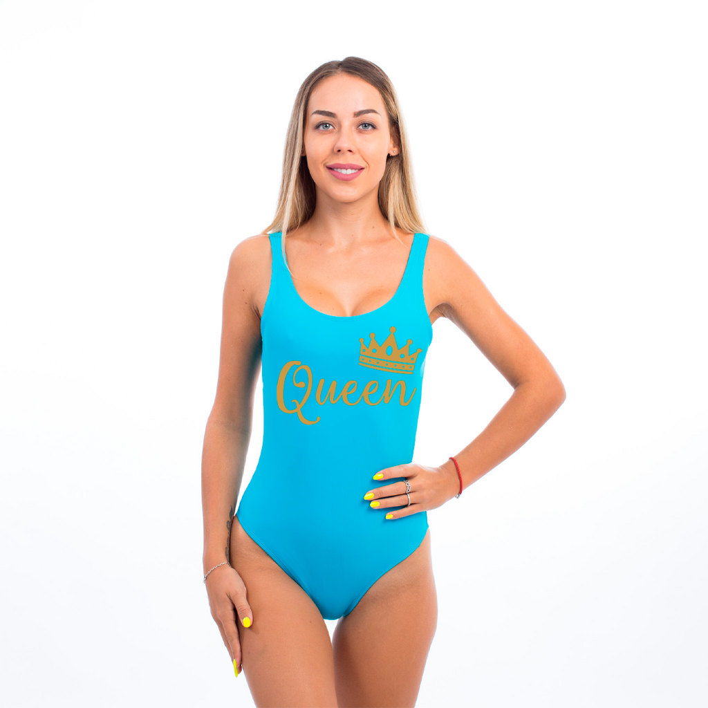 Queen with Glitter One Piece  Swimsuit
