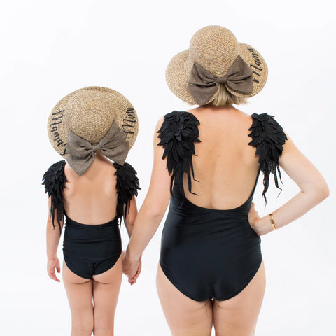 Matching Swimsuits with Wings for Mother and Daughter