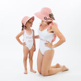 Mama and Mama's Mini Sun Hats with Bow - Bridesmaid's World