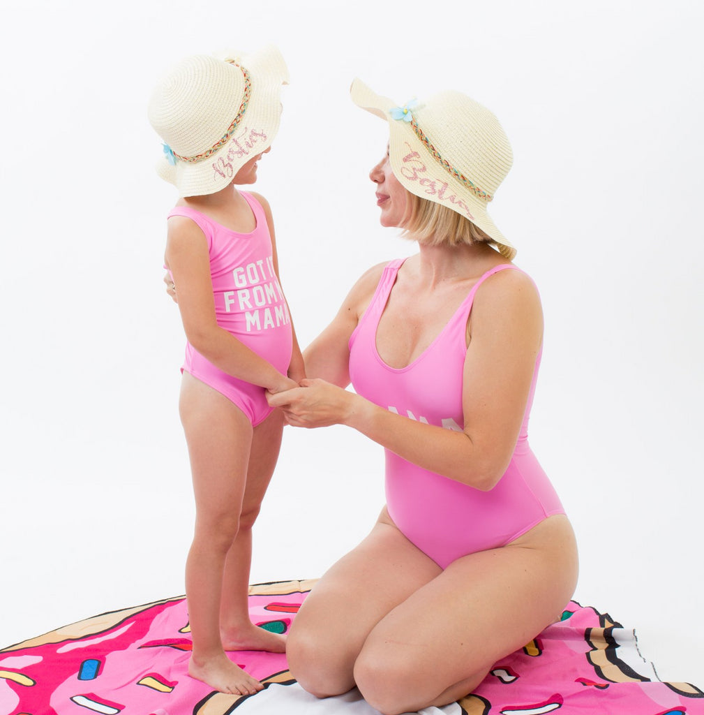 Pink Got it from my Mama and Mama Swimsuits - Bridesmaid's World