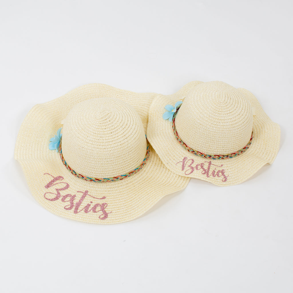 Custom Mama and Mama's Mini Sun Hats - Bridesmaid's World