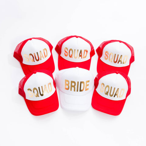 Red Squad Trucker Hats