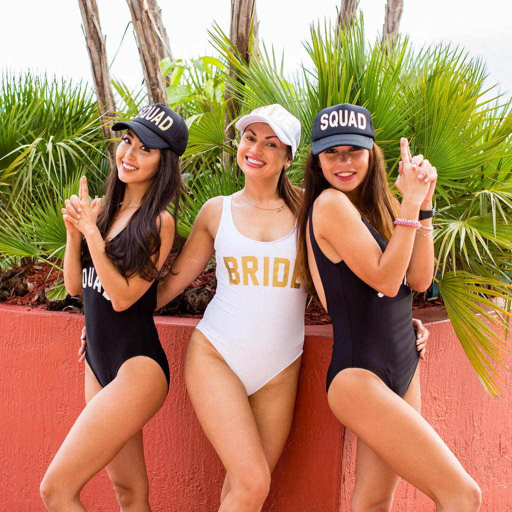 Bahcelorette Custom Team Bride Bathing Suits