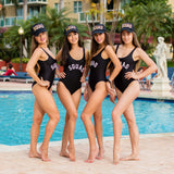 Bachelorette Custom Squad One-Piece swimsuits
