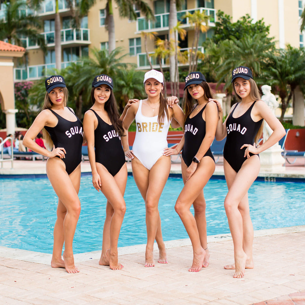Bride Tribe Customized One Piece Swimsuits