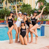 Matching Squad One-Piece Swimsuits