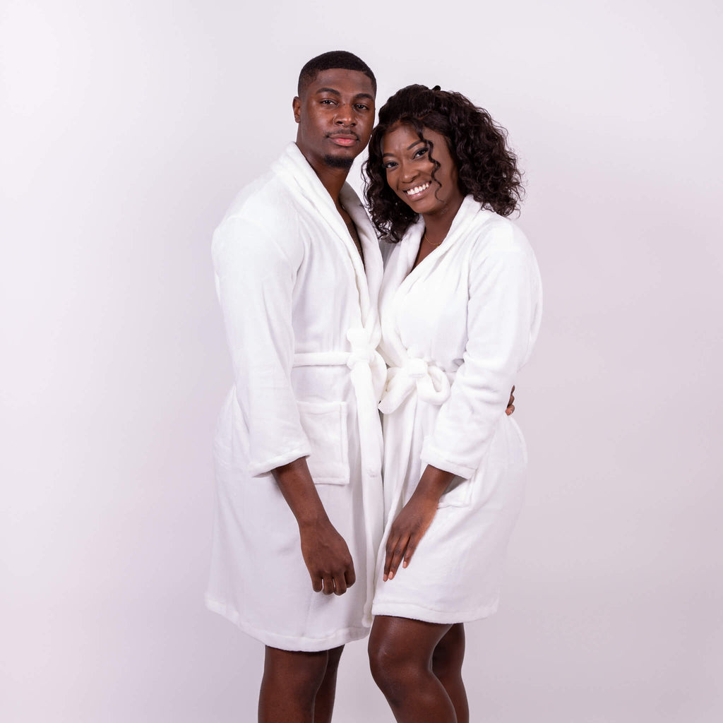 Cozy Terry His and Hers Personalized Bathrobes Set