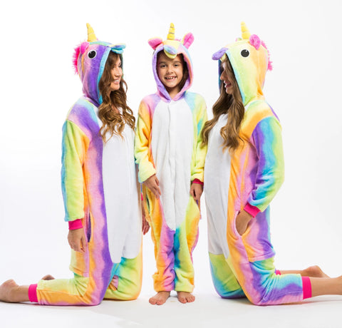 Rainbow Unicorn One piece Pajamas