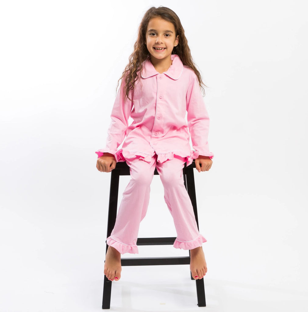 Kids Personalized Button Down Christmas Pajamas Set - Bridesmaid's World