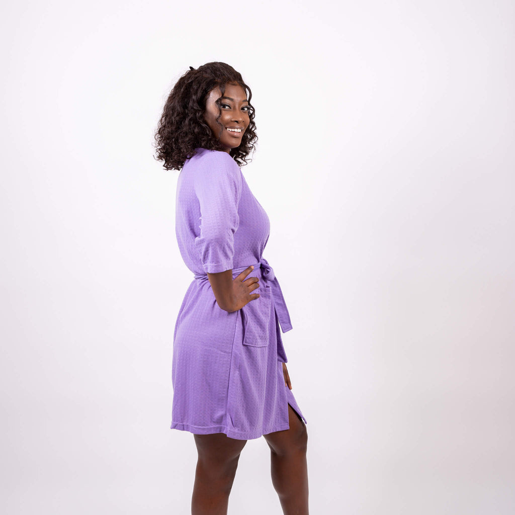 Cotton Waffle-Knit Pink Customized Robes