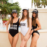 Bachelorette Bride One-Piece Custom Bathing Suit