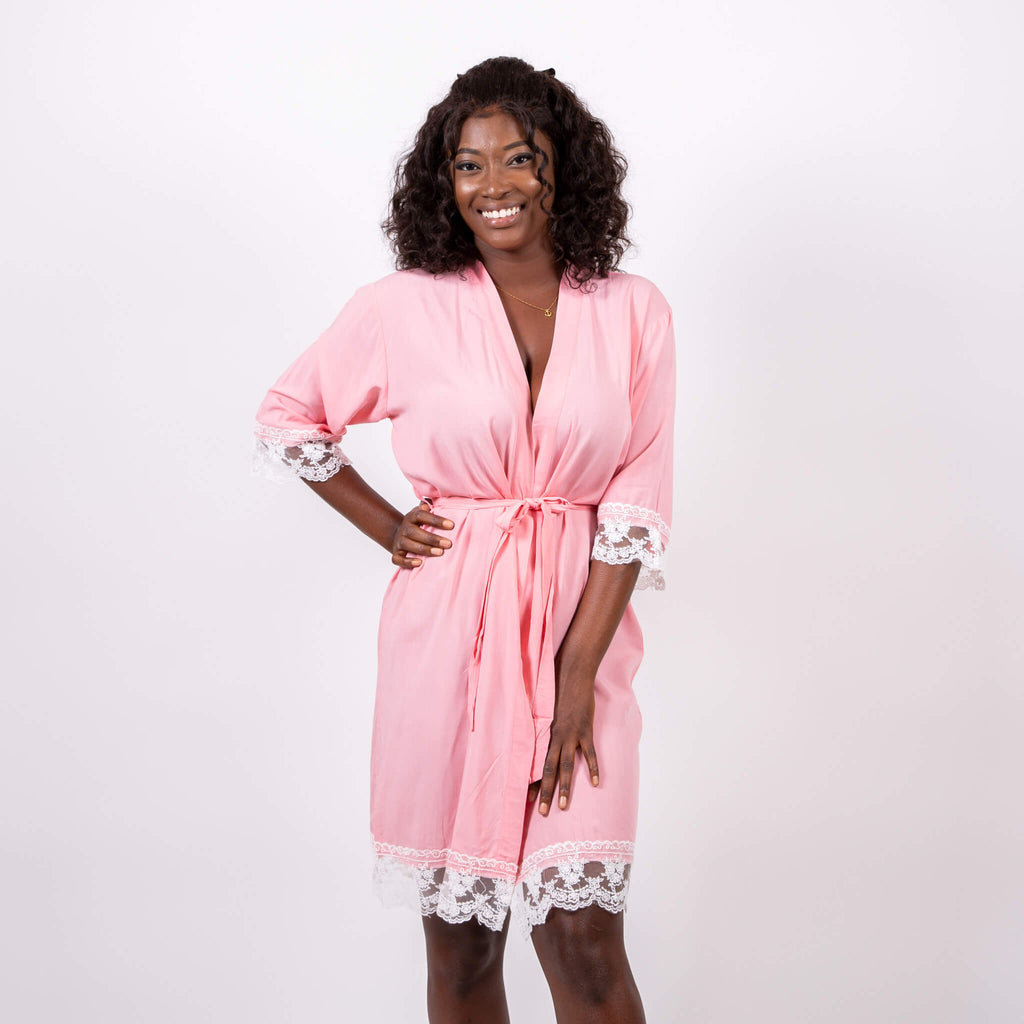 Cotton Lace Robes with Customization
