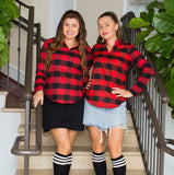 Bridal Party Buffalo Plaid Flannel Shirts - Bridesmaid's World