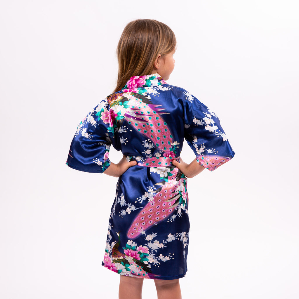 Kids Floral Peacock Robe