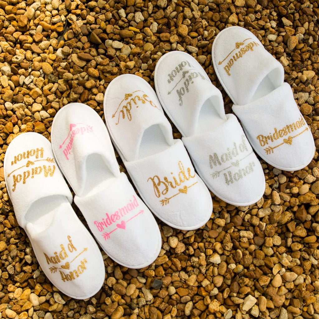 Personalized Wedding Slippers - Bridesmaid's World