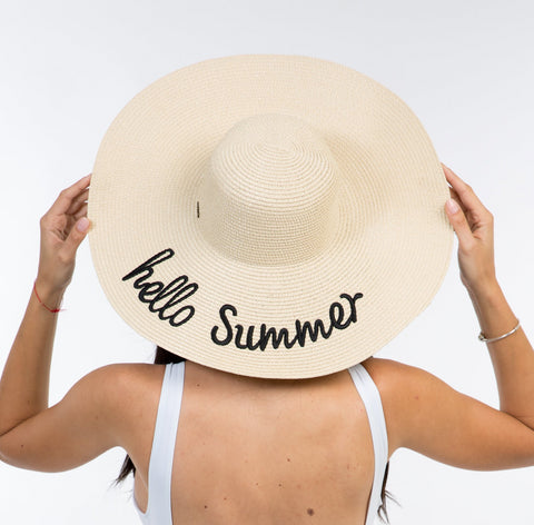 Hello Summer Floppy Sun Hat
