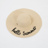 Hello Summer Floppy Sun Hat - Bridesmaid's World