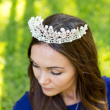 Bridal Pearl Crystal Tiara - Bridesmaid's World