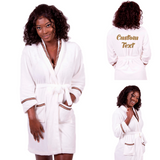 Cozy Terry Brown Border Customized Robe