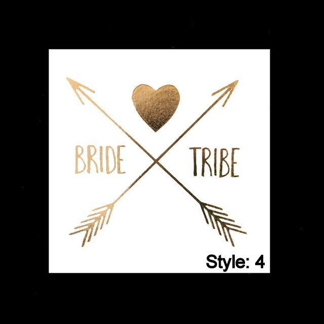 Bachelorette Party Bride to Be Temporary Tattoos