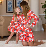 Christmas Family Matching Dresses Red Santa Dress Mommy and Me Dress Christmas Outfit - Bridesmaid's World