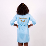 Cotton Waffle-Knit Customized Robes
