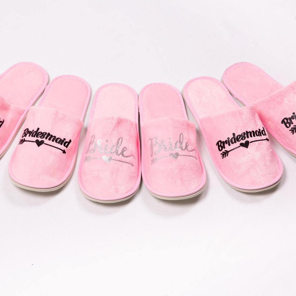 Pink Personalized Slippers