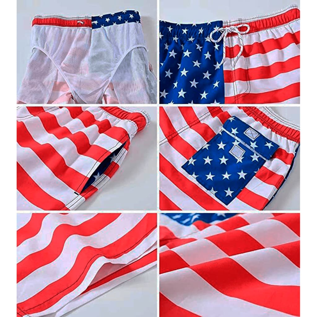 American Flag Men's Trunk - Bridesmaid's World