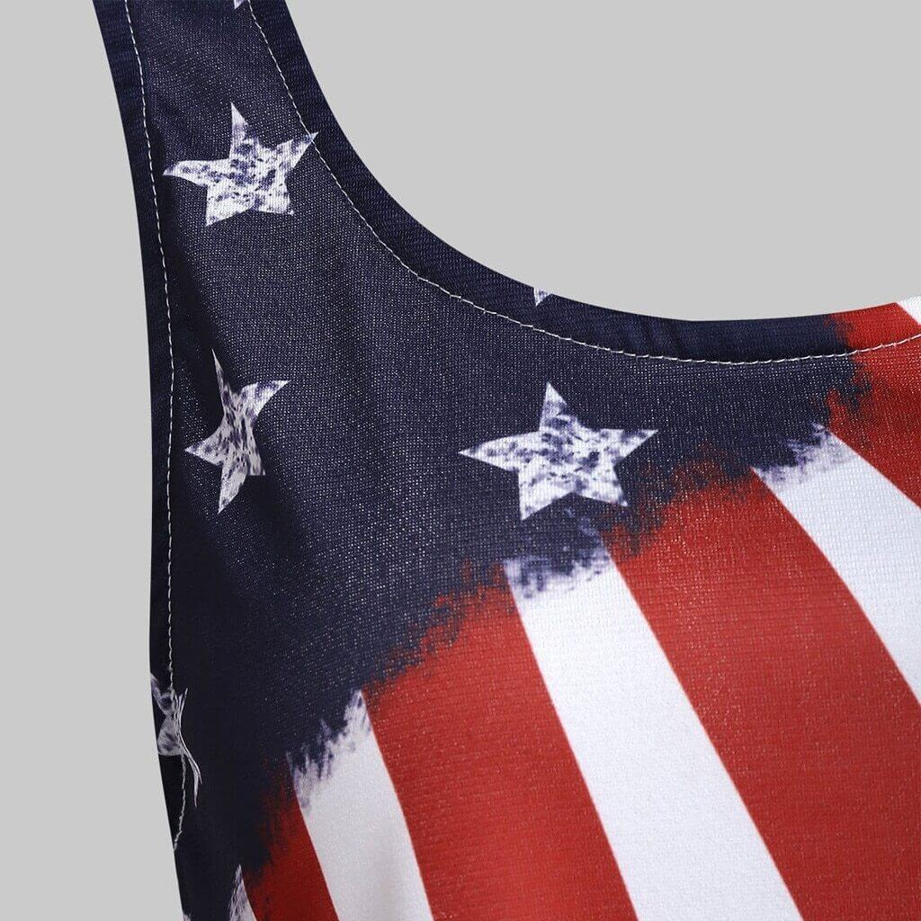 American Flag Sleeveless Tank Up