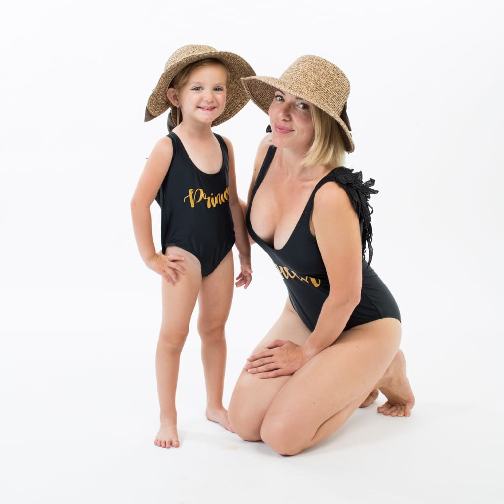 Angel Matching Mommy and Me Swimsuits - Bridesmaids World