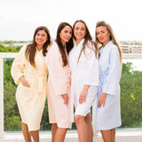 Baby Blue Cotton Waffle Bridesmaids Robes - Bridesmaids World