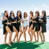 Bachelorette Bride Squad One-Piece Swimsuits - Bridesmaids World
