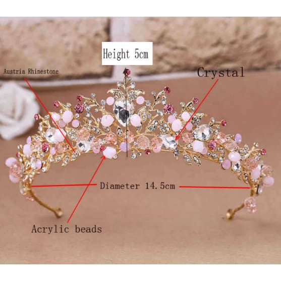 Baroque Bridal Tiara and Earrings Set - Bridesmaids World