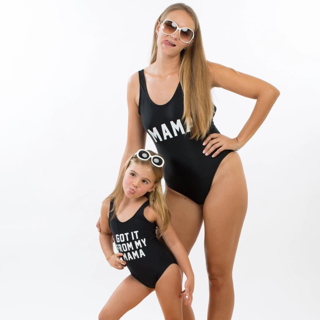 Black Got it from my Mama and Mama Swimsuits - Bridesmaids World
