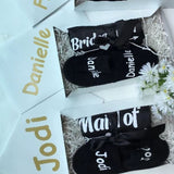 Black Personalized Slippers - Bridesmaids World