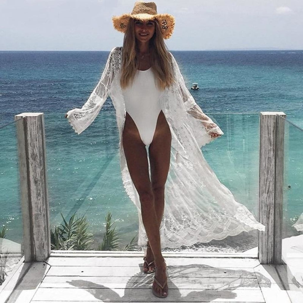 Bridal White Lace Cover up