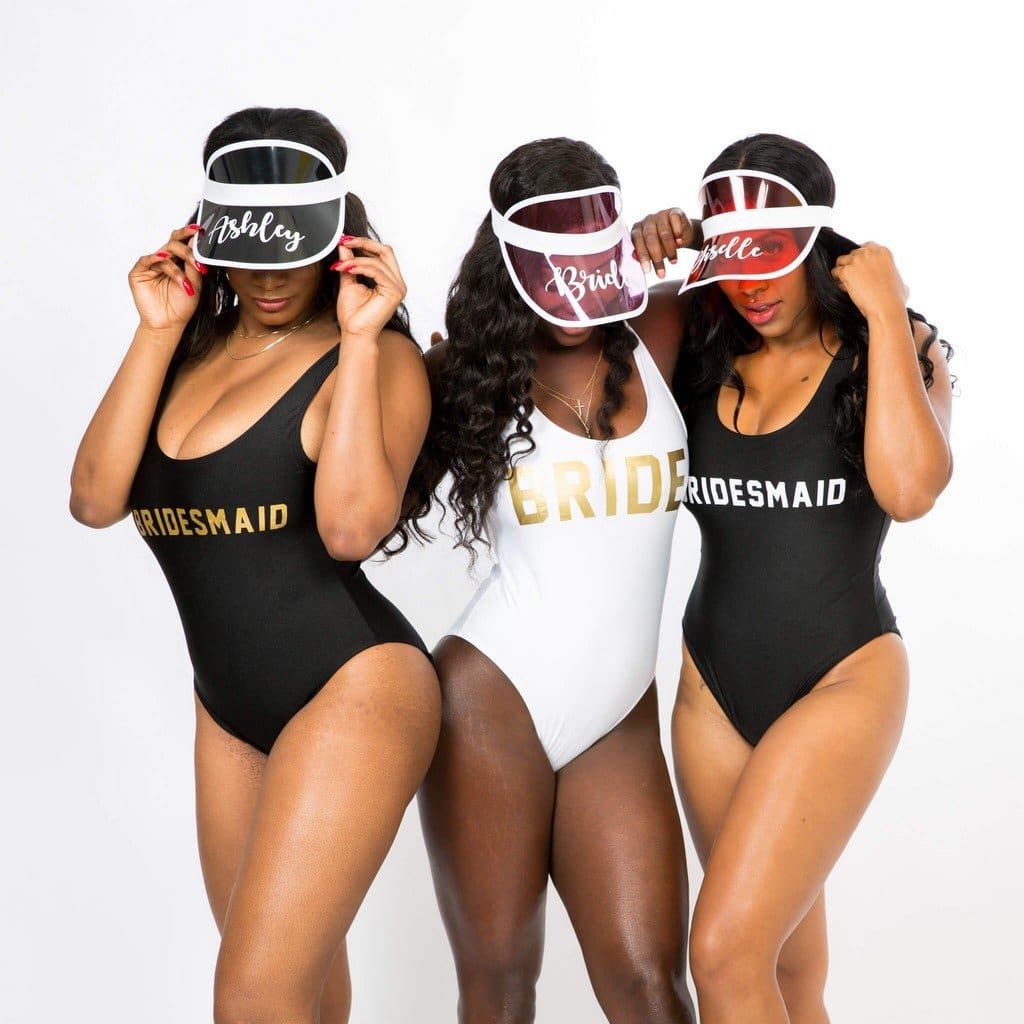 Bridesmaid Bachelorette One-Piece Swimsuits - Bridesmaids World