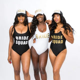 Custom Text One-Piece Bathing Suit - Bridesmaids World
