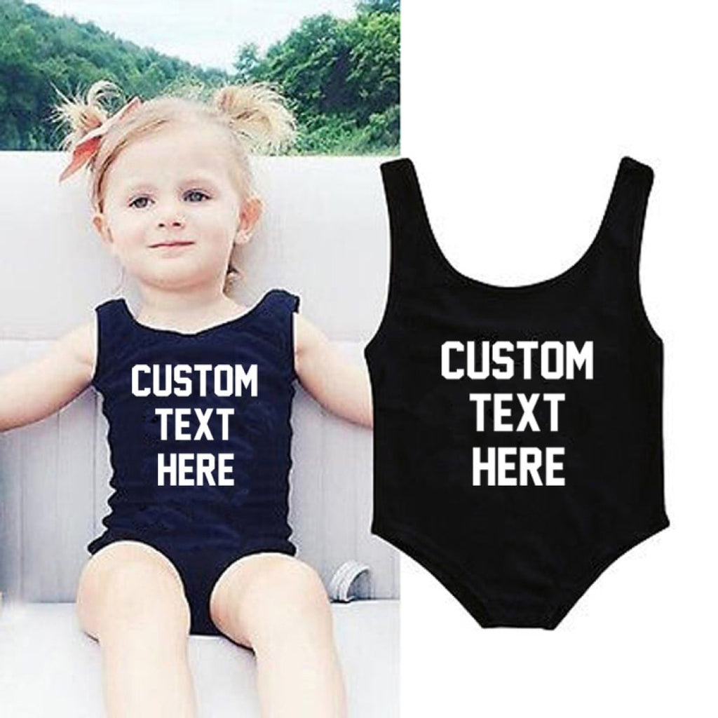 Kids One piece Customized Swimsuit - Bridesmaid's World