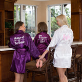 Kids Satin Flower Girl Robe