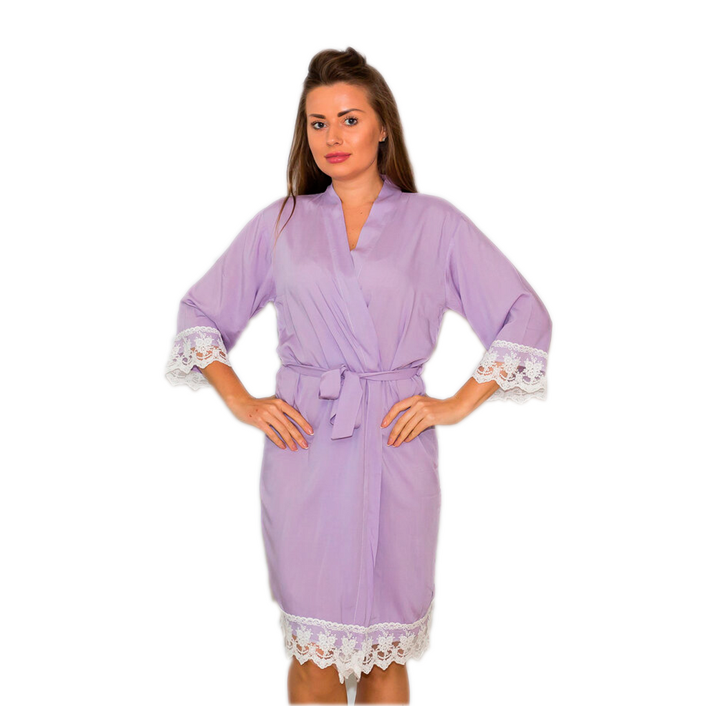Cotton Lace Baby Blue Robes