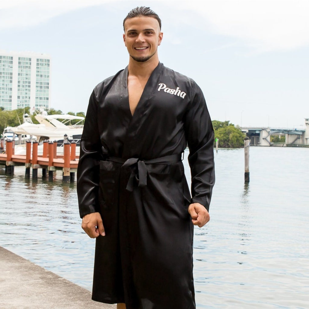 King Men's Satin Robes - Bridesmaid's World