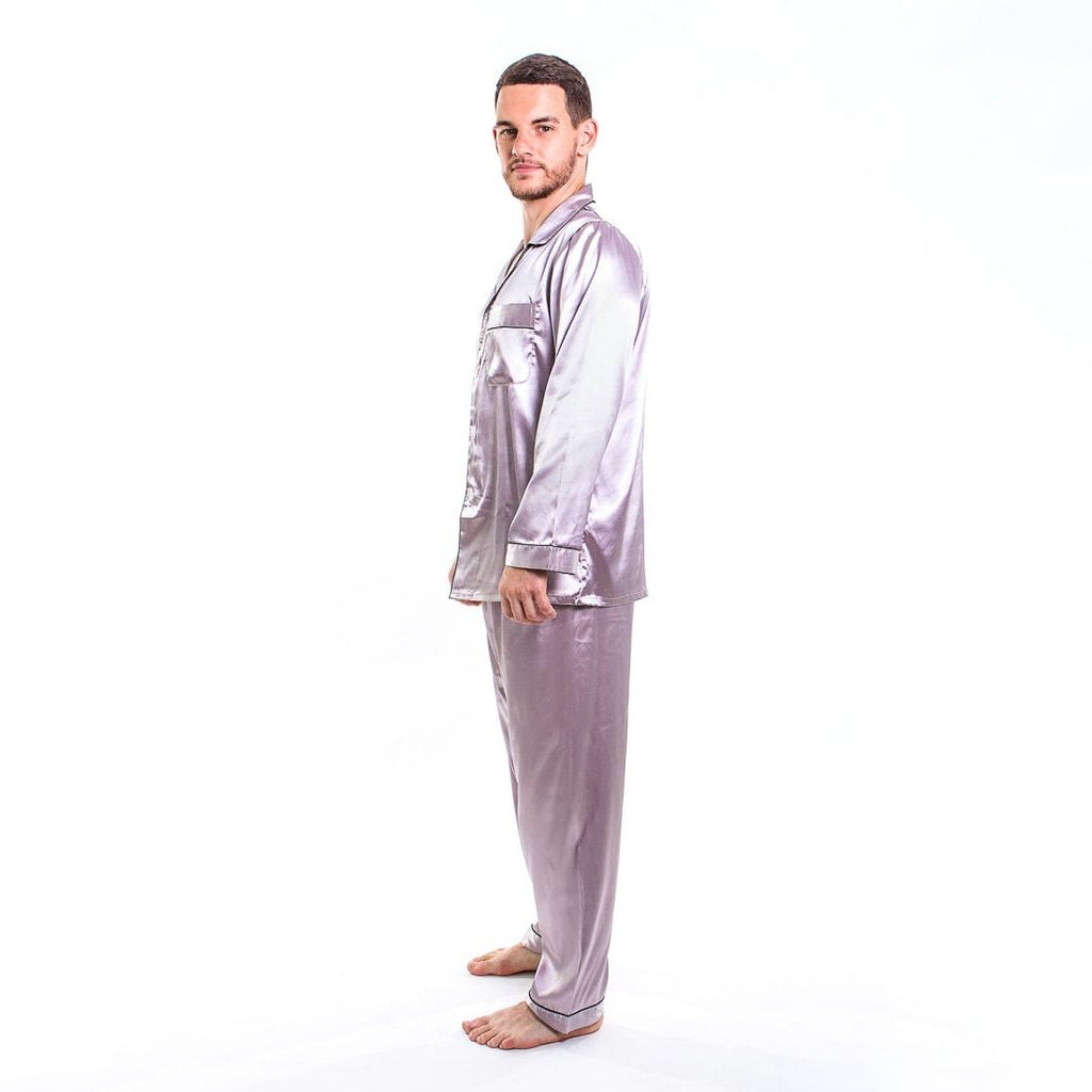 Men's Satin Pajamas Long Sleeves + Pants