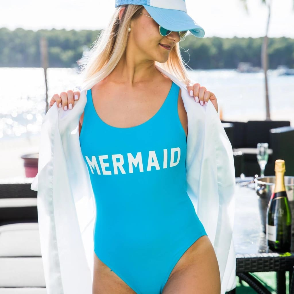 Mermaid One-Piece Bathing Suit - Bridesmaids World