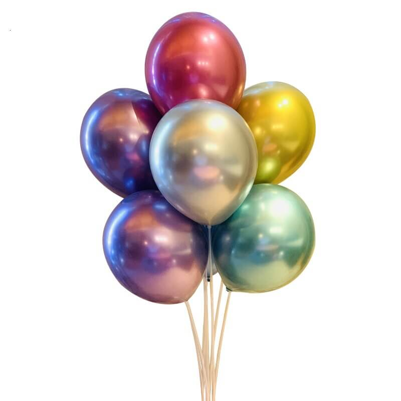 Set of Metallic Latex Balloons 20 pcs