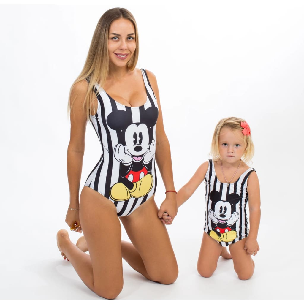 Miki Mouse Matching One Piece Swimsuits - Bridesmaids World