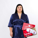 Mother's Day gift Satin Customized robe + slippers