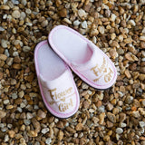 Flower Girl Personalized Kids Slippers - Bridesmaid's World